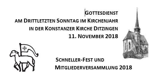 Predigt am 11.11.2018 in Ditzingen, Konstanzer Kirche